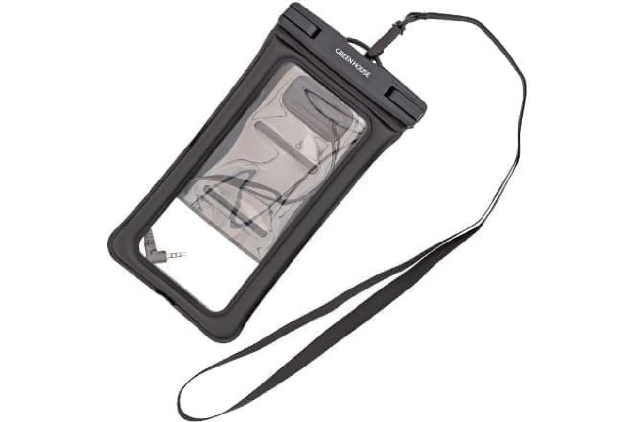 水に浮くiPhoneケース「GH-WPCD-BK」