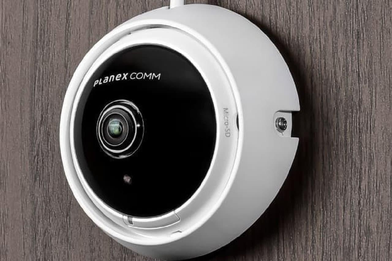 フルHD・360度撮影できるアナログ監視カメラ「CS-BA01」