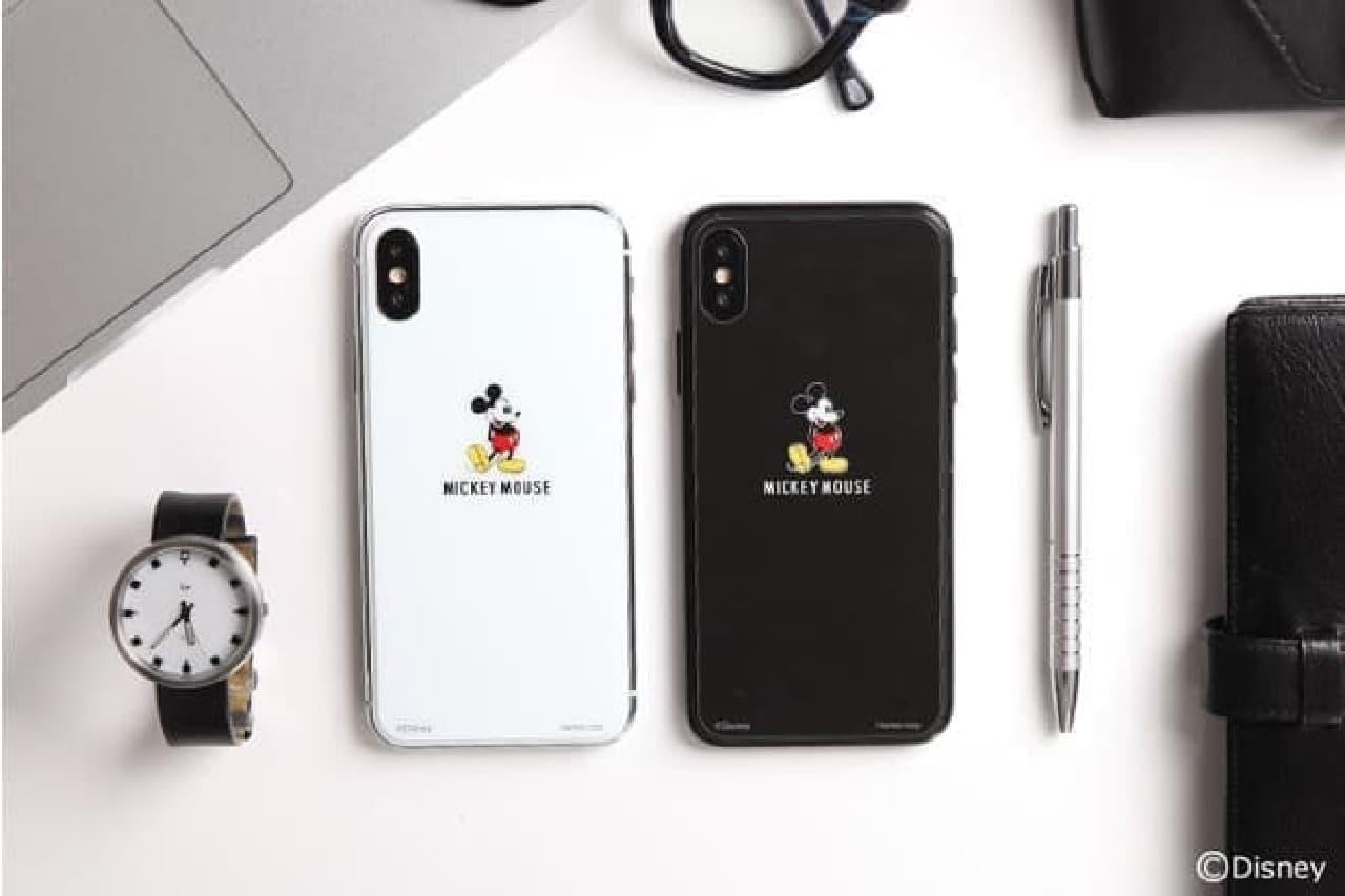 ミッキーマウスデザインのiPhone X用背面ガラスフィルム