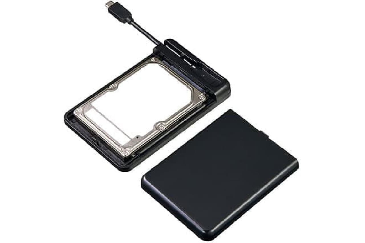 USB Type-Cコネクター付きの2.5型HDD/SSDケース「TK-RF25CBK」