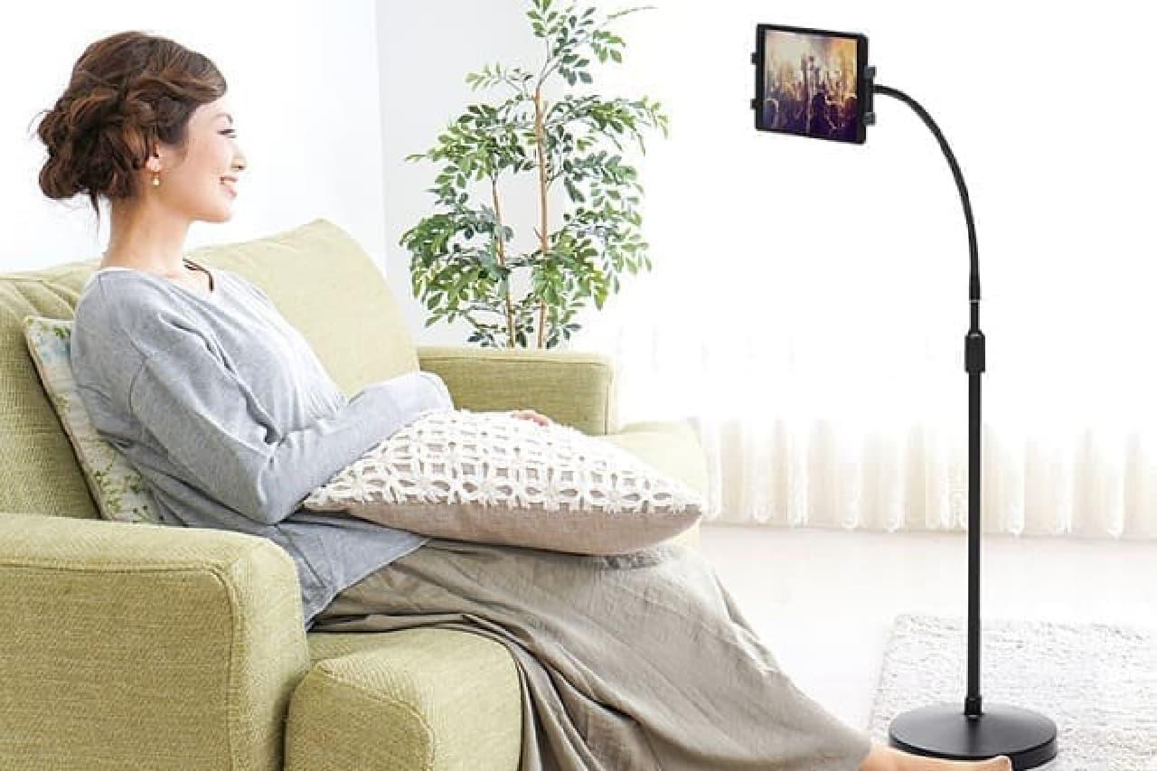 iPad用床置きスタンド「100-MR140」