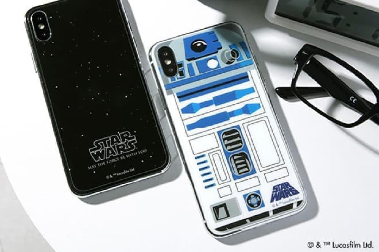 STAR WARS柄のiPhone保護ガラスフィルム