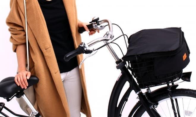 自転車用前カゴカバー「Toit Noir(トワ・ノワール)」、DOPPELGANGERから