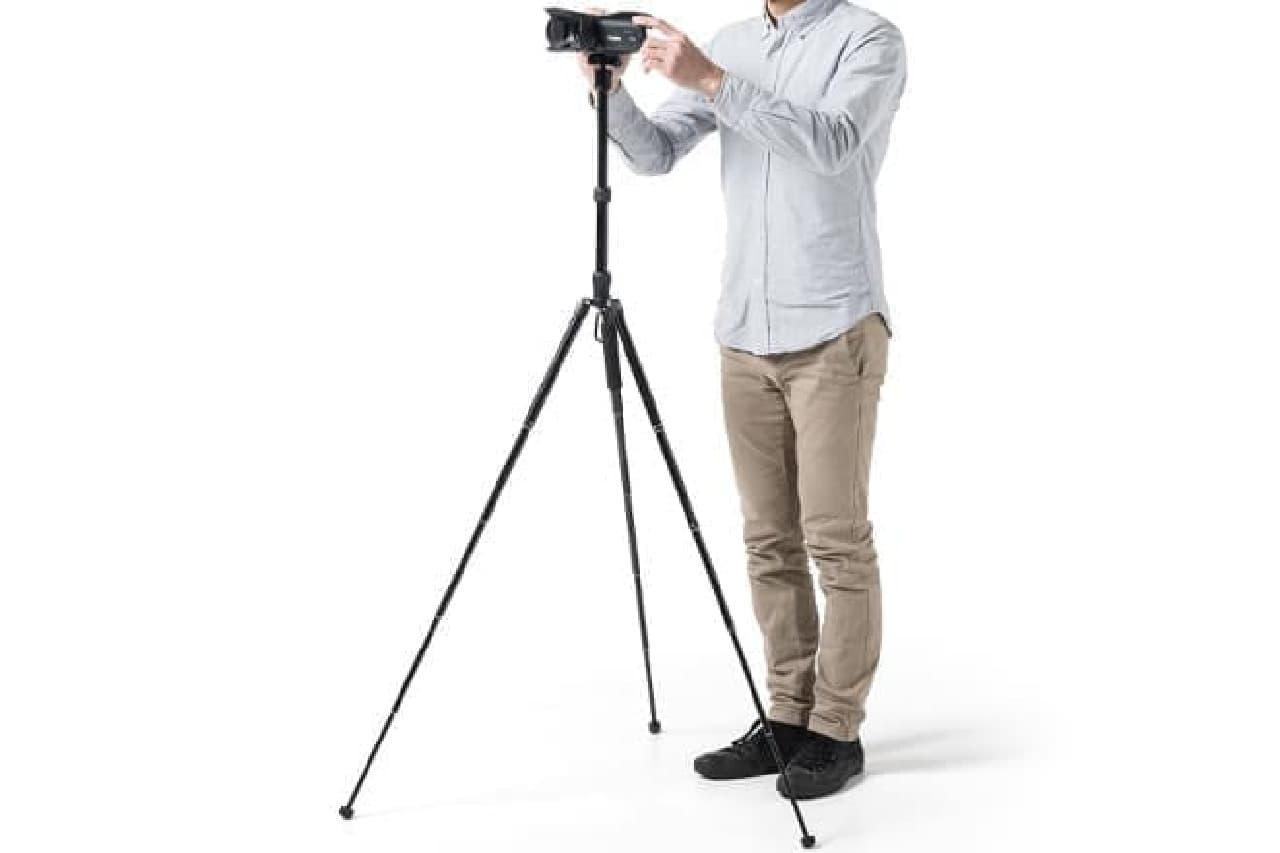 軽量タイプのカメラ三脚「200-DGCAM011」