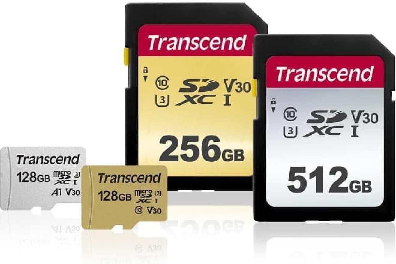 トランセンドのSDカードに新製品