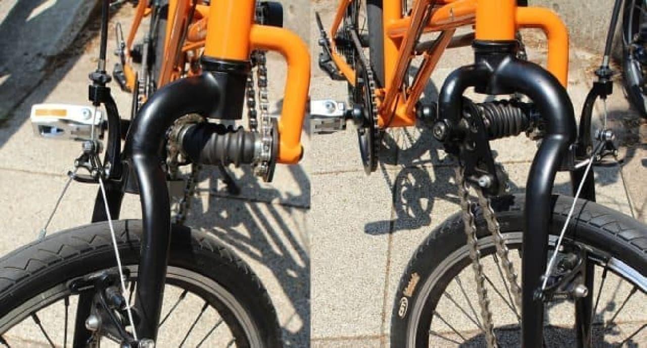 SUBARUのAWD自転車 機構