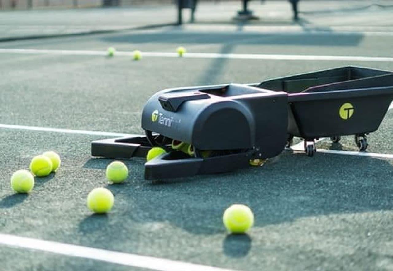 もう球拾いは要らない―自動でボールを集めてくれる「Tennibot」