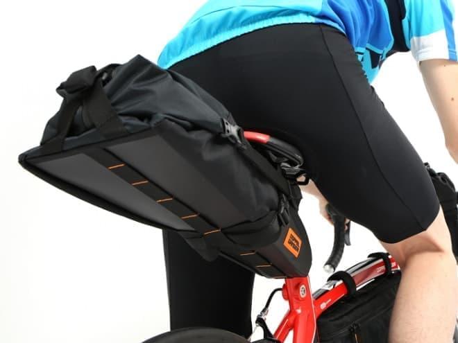 自転車用サドルバッグ「メガマウス サドルバッグ スリム」、DOPPELGANGERから