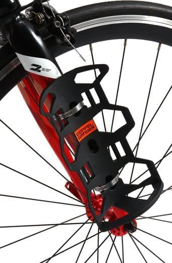 フロントフォークに装着する自転車用バッグ「Mr.Big CAGEとMrs.アクセサリーバッグ」