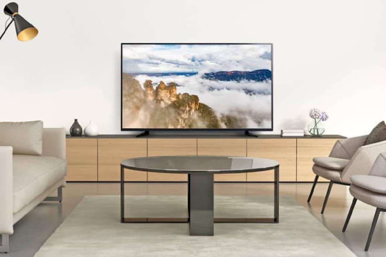 55型で4K解像度の液晶テレビ「GH-TV55C-BK」