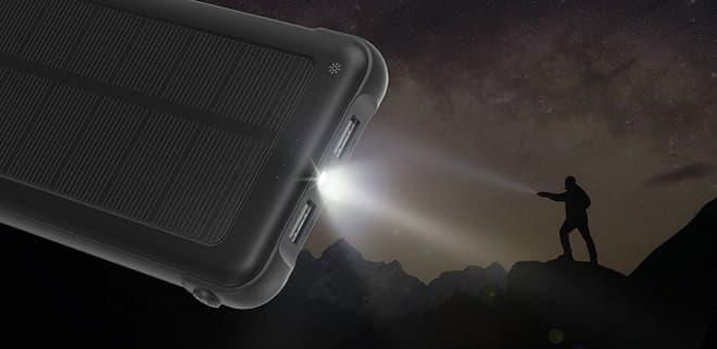 太陽光でも充電できる10,000mAhモバイルバッテリー、RAVPowerの「RP-PB082」