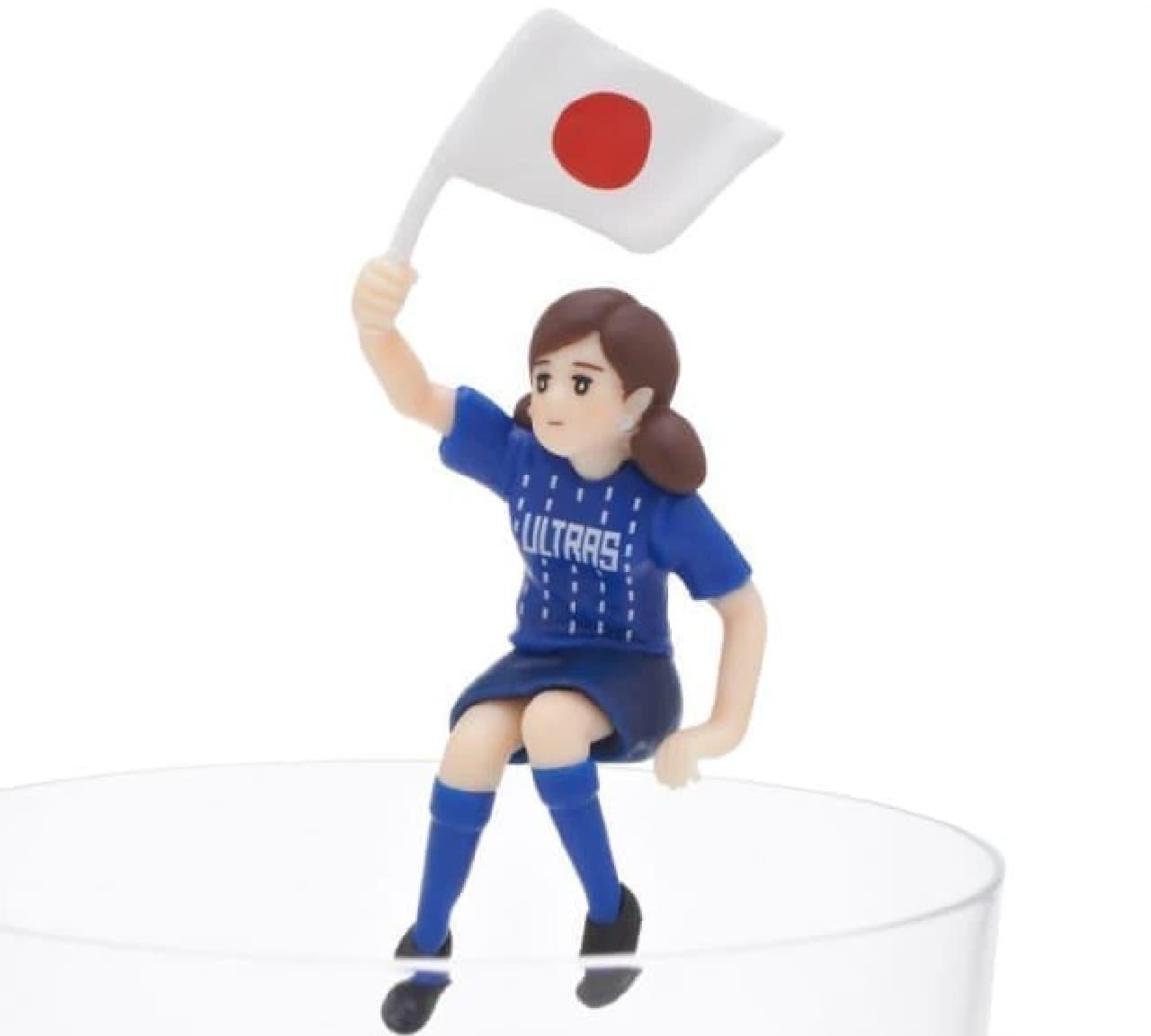 サッカー日本代表を応援するフチ子さん「コップのフチ子 ULTRAS 1.5」