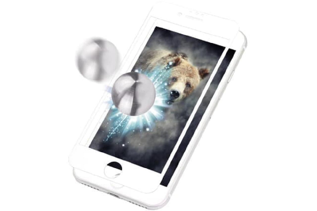 耐衝撃iPhone保護ガラス