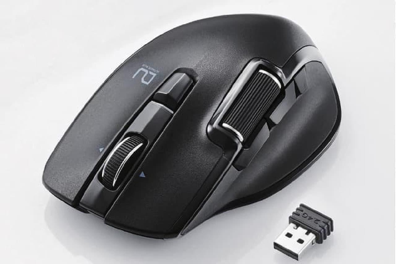 ハードウエアマクロ付きマウス「M-DWx01DBBK」