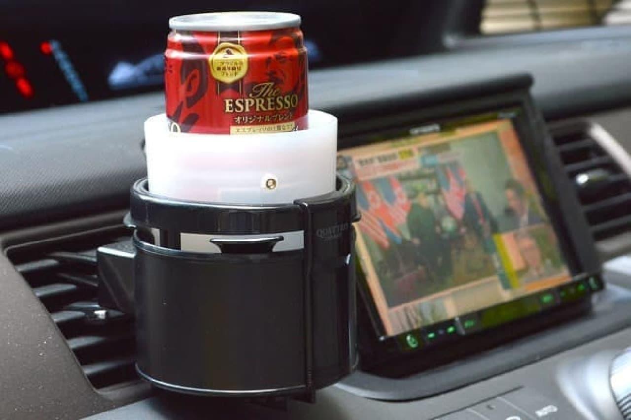 飲み物を冷たく保つ「USB冷温紙コップホルダー」