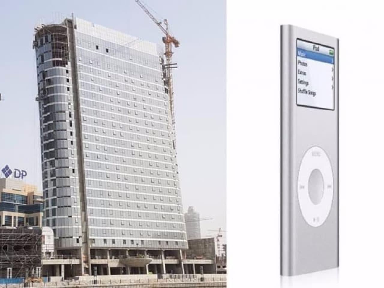 iPodにインスパイアされたビル、ドバイの「The Pad」