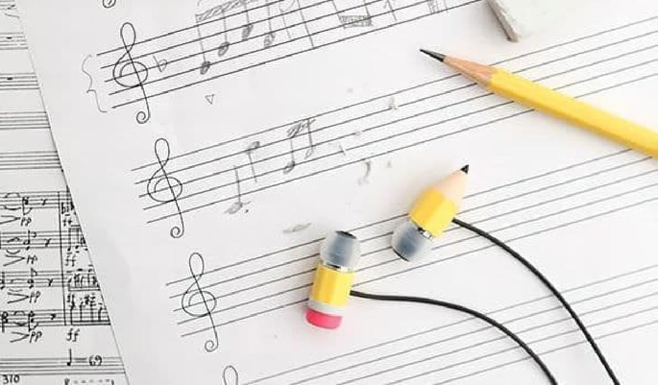 えんぴつデザインのイヤホン「Magic Pencil Earphones」