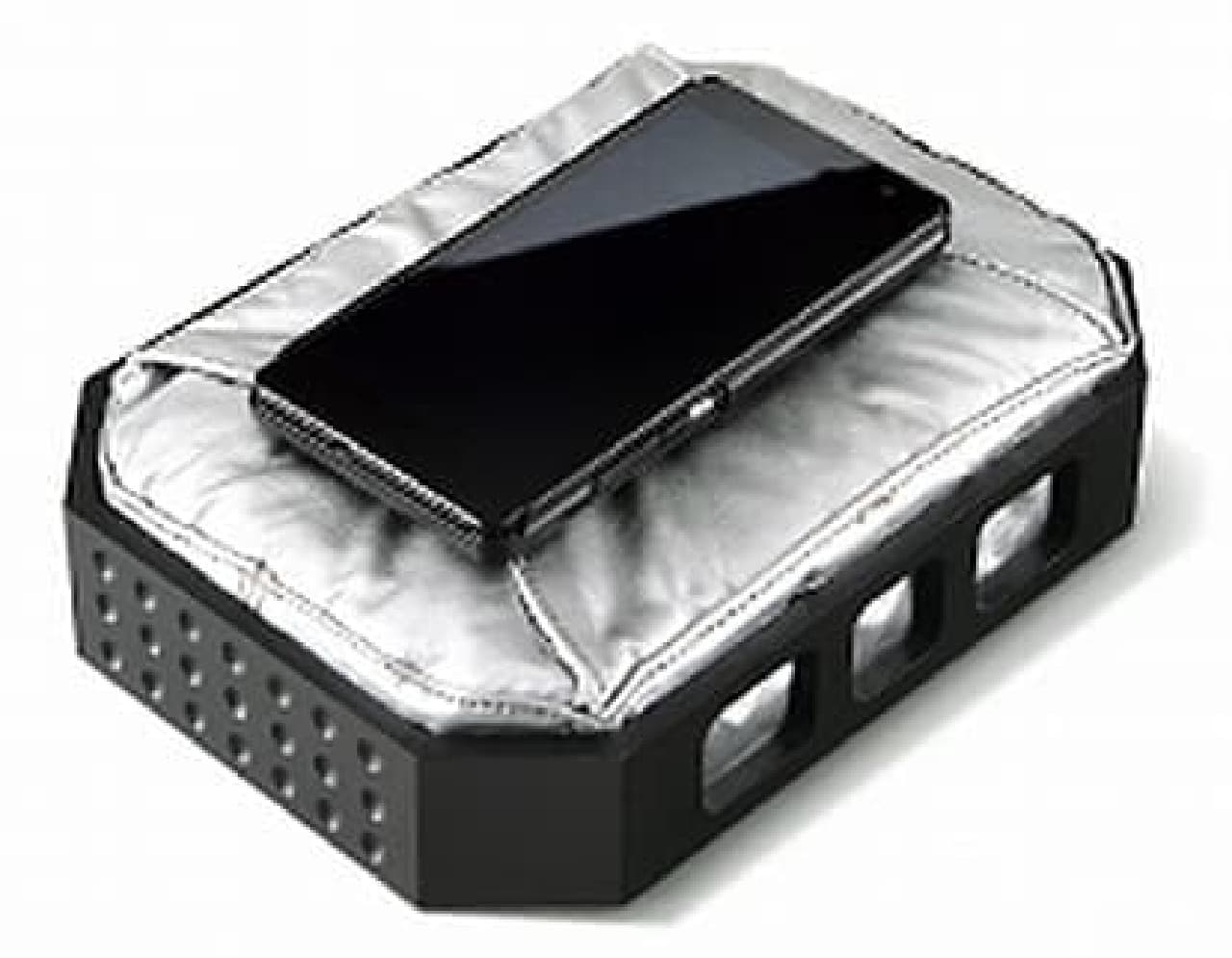 ホンダによるエアバッグ付きスマートフォンケース「Smartphone Case N」(ジョーク)