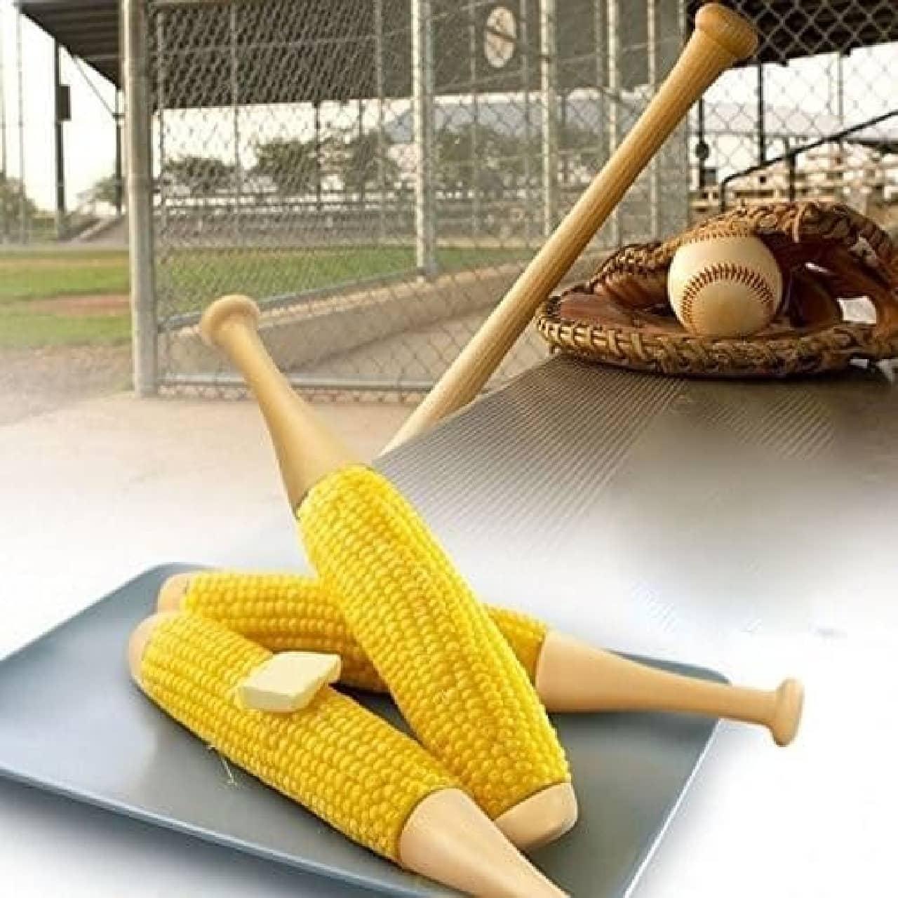 バット型とうもろこしホルダー「Baseball Bat Corn」