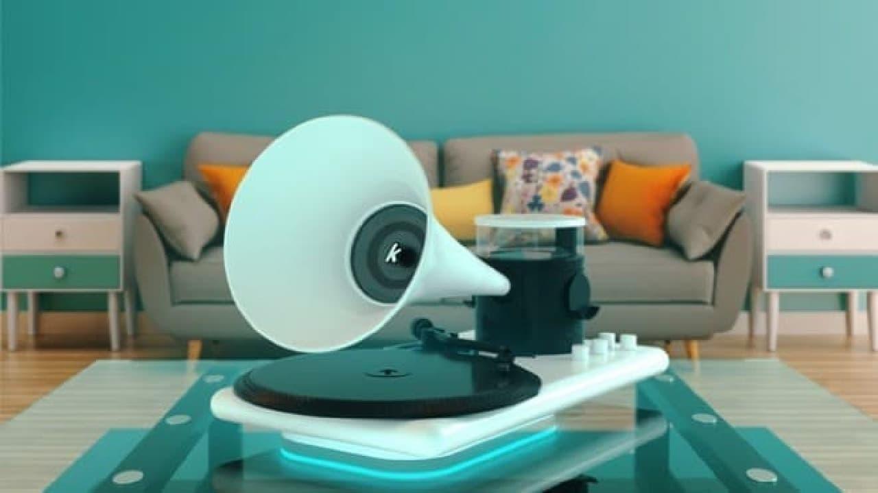 レコード好きなら、いっそ蓄音機―オールインワンのレコードプレーヤー「Kozmophone」