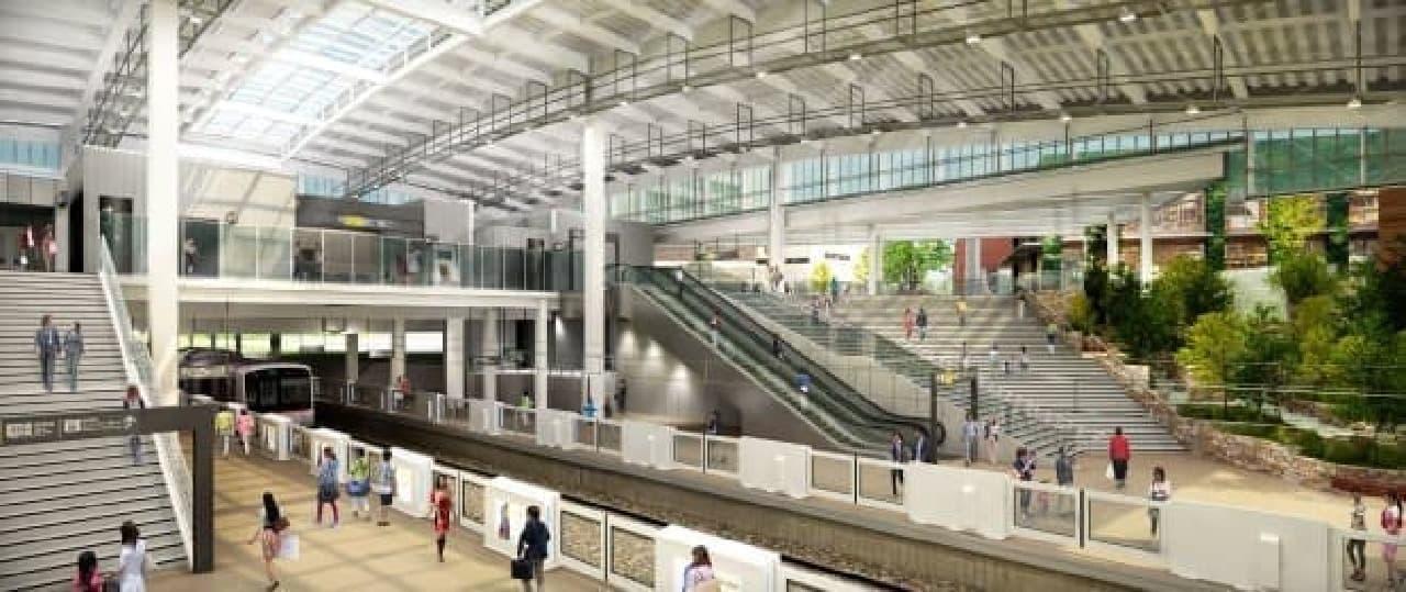 新しくなる「南町田グランベリーパーク駅」イメージ