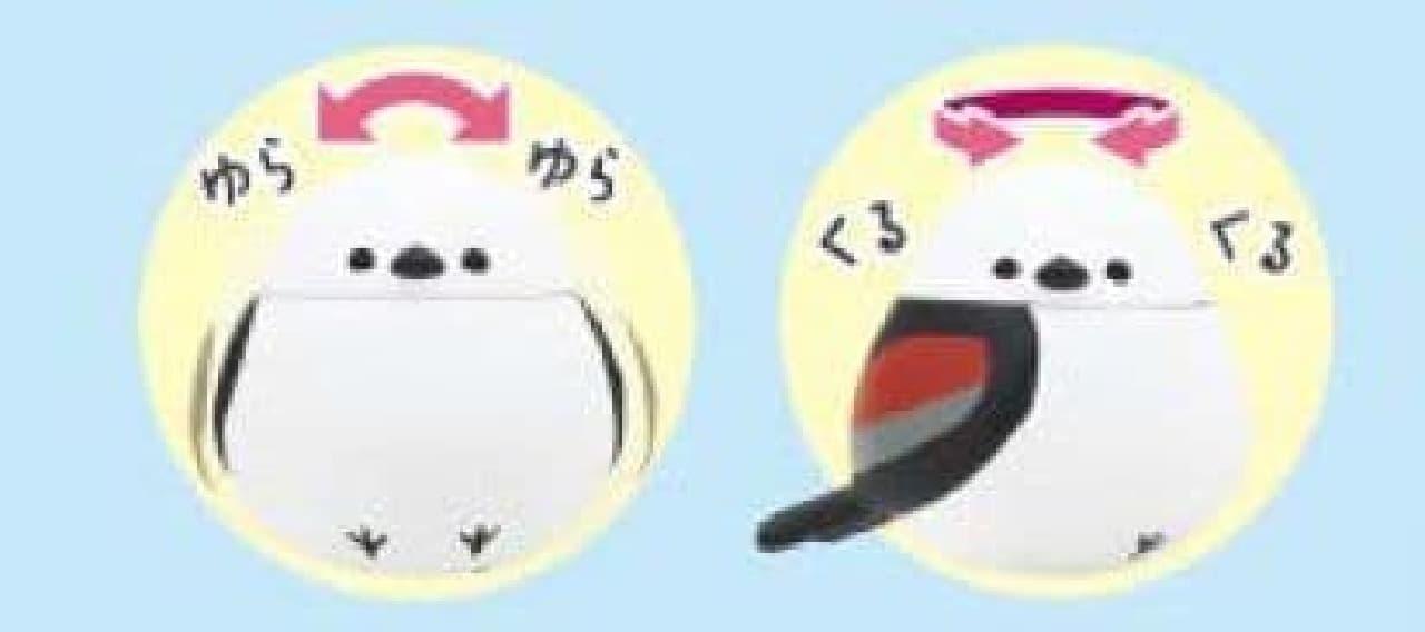 「ふっくら福福シリーズ」ギミック