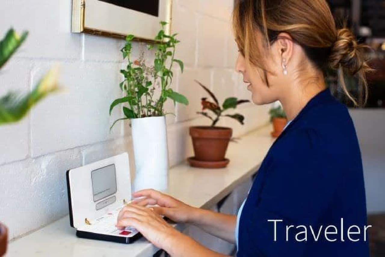 日本語入力にも対応したデジタルタイプライター「Traveler(トラベラー)」