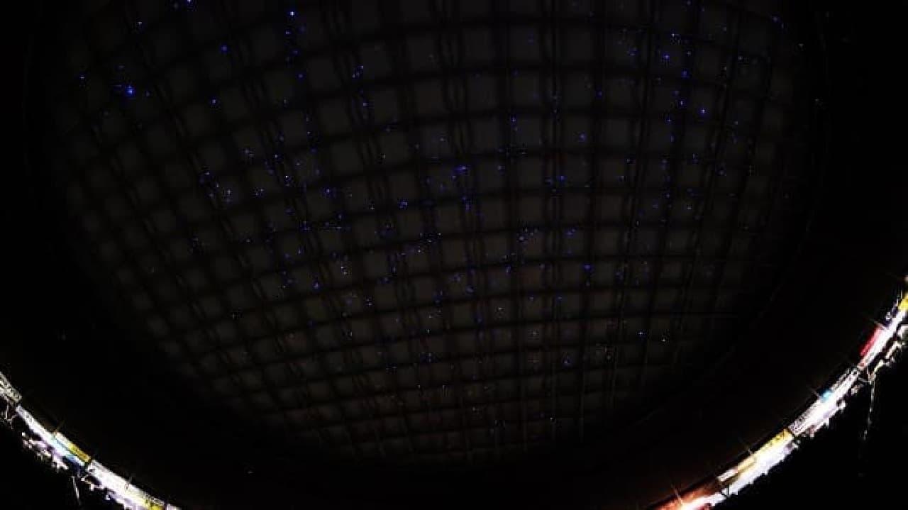 ドーム球場を超巨大プラネタリウムに変える「ギガニウム」