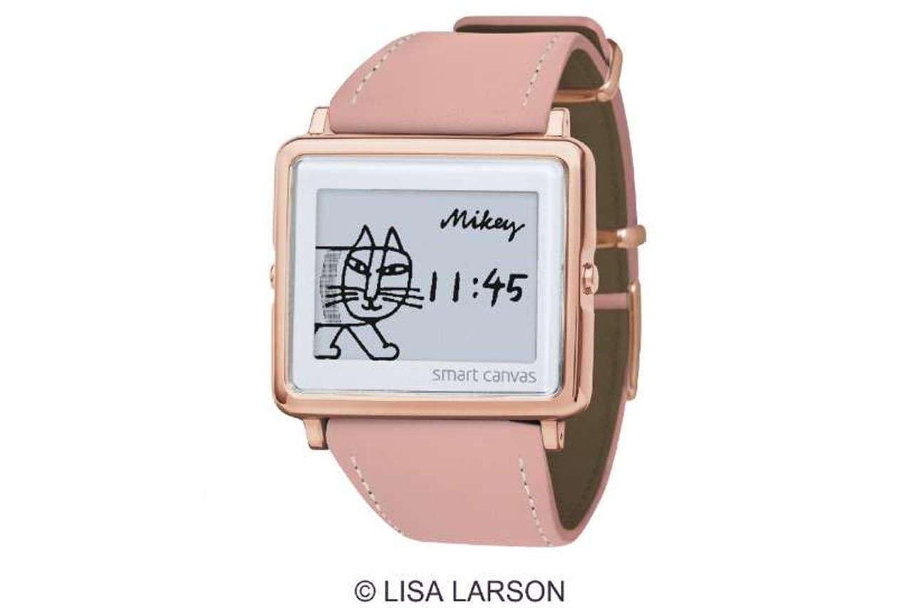 リサ・ラーソンのアートが入った腕時計「Smart Canvas Lisa Larson Mikey」