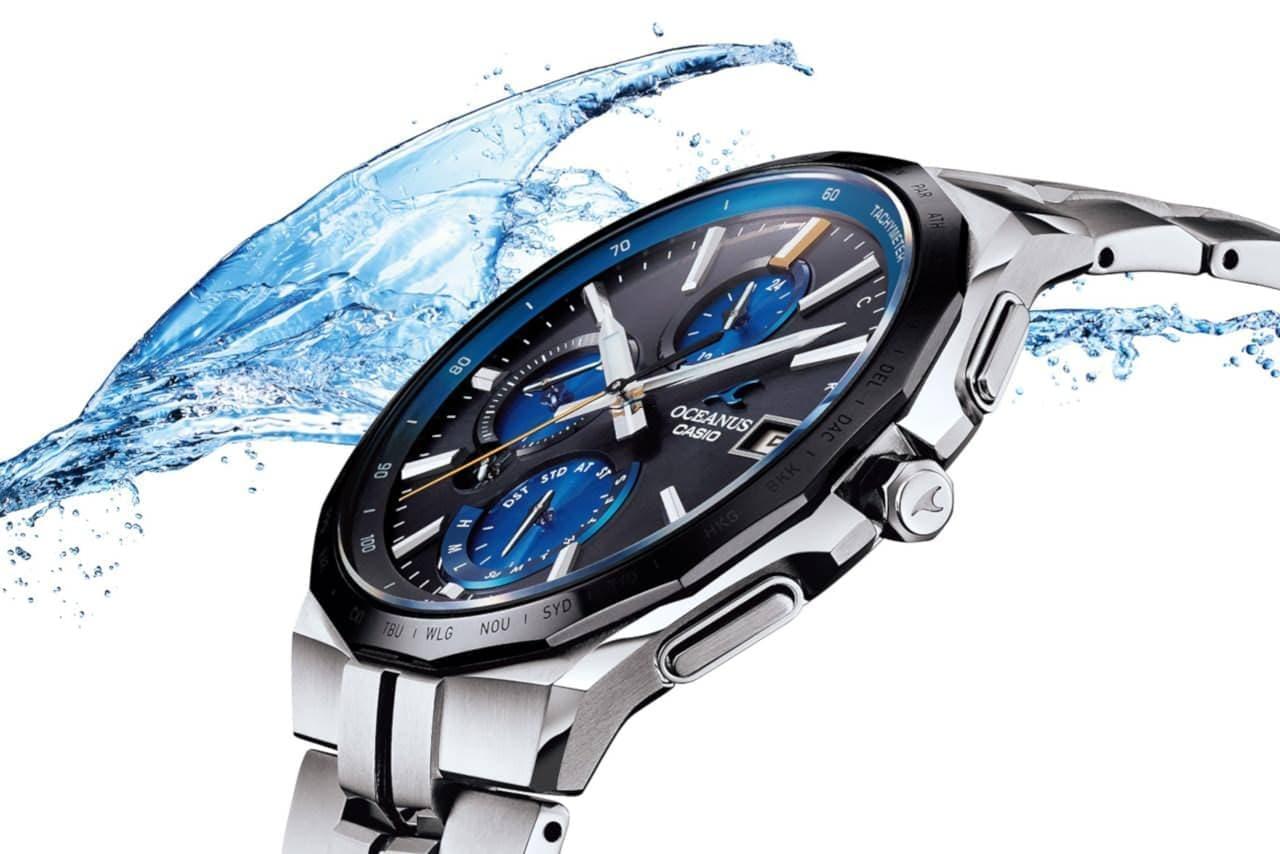カシオ、ケース厚9.5mmの薄型腕時計「OCW-S5000/S5000E」