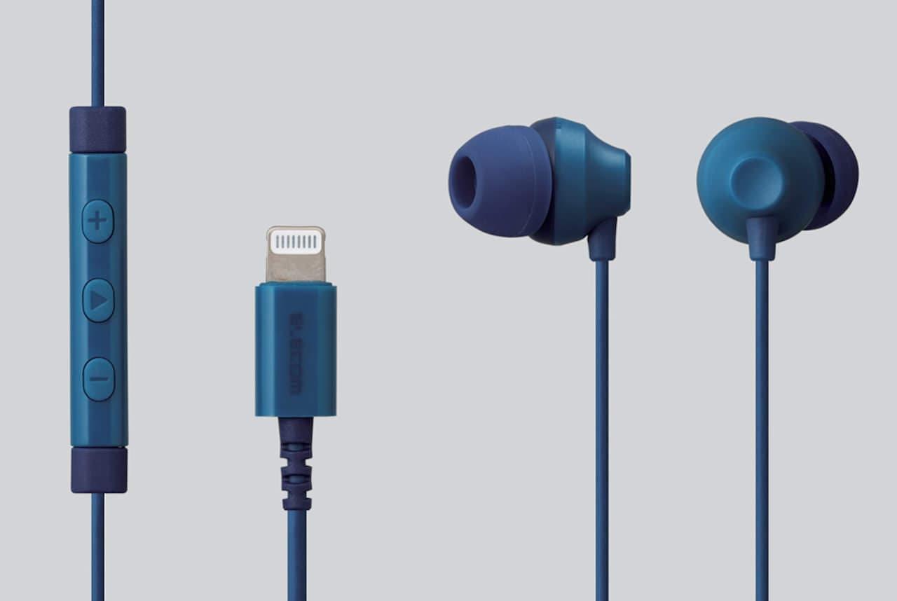 iPhone用の有線ステレオイヤホンマイク「EHP-LF12CM」