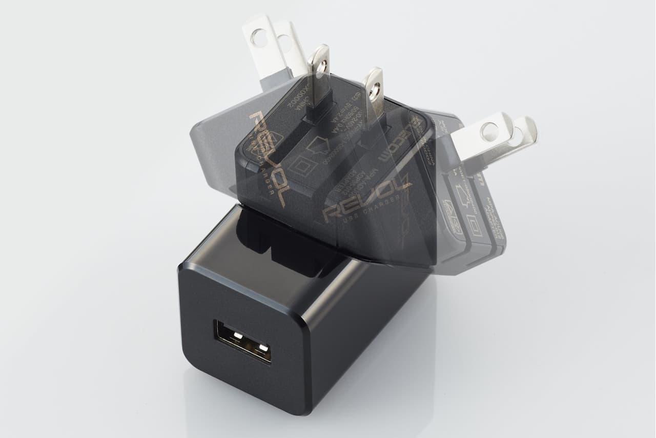 回転式USB AC充電器「REVOL USB CHARGER」