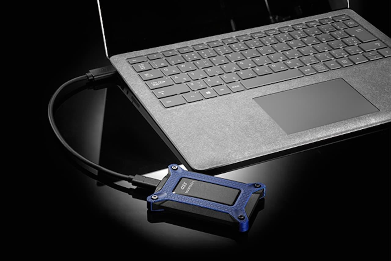 名刺サイズの高速ポータブルSSD「SSPG-USC」