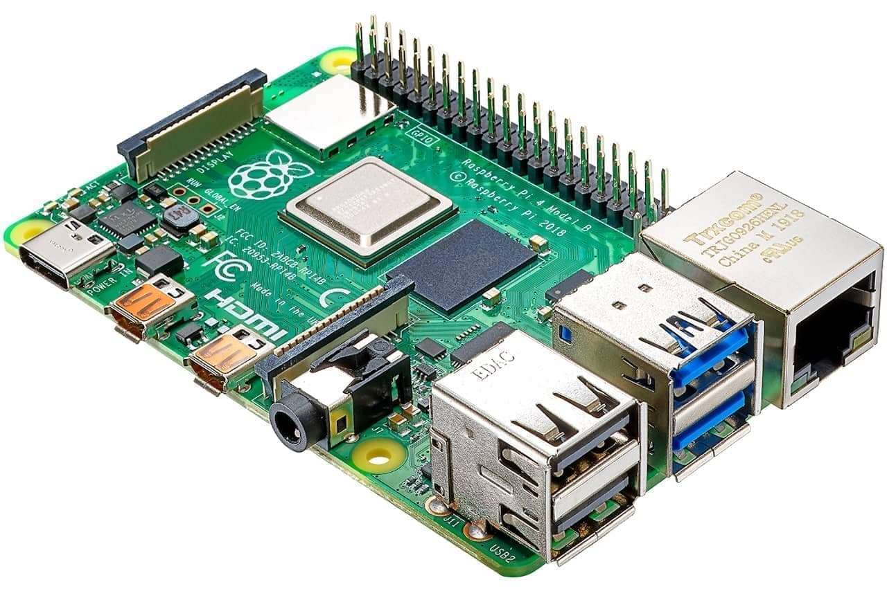 小型コンピューター「Raspberry Pi」の第4世代「UD-RP4B4」