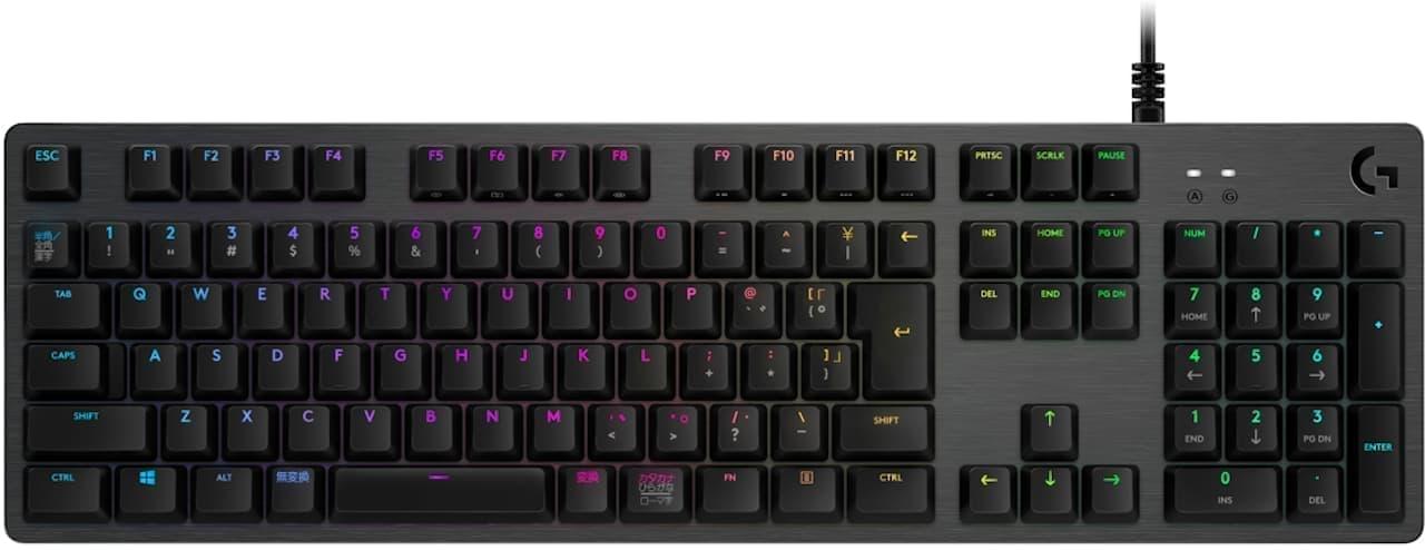 ロジクールの有線ゲーミングキーボード「G512」刷新