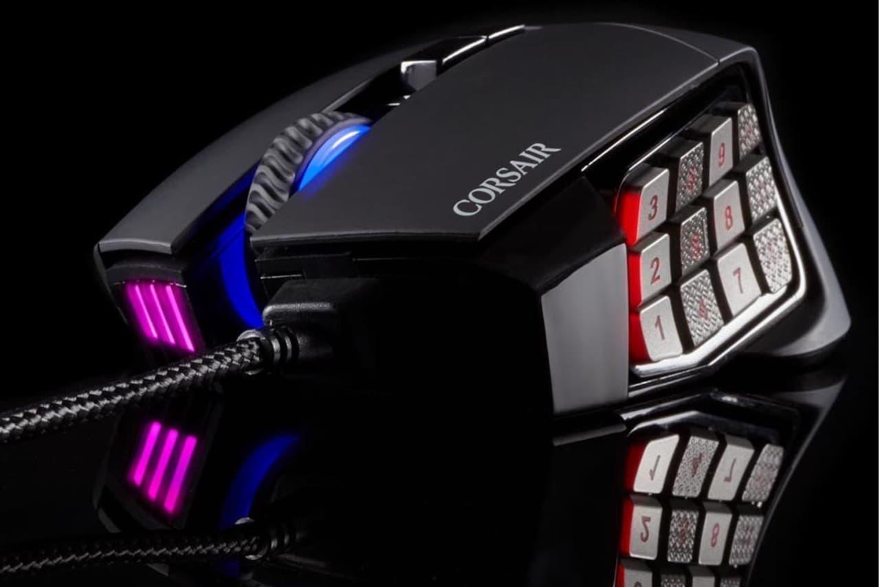 リンクス、最大18,000dpiのゲーミングマウス「CORSAIR Gaming SCIMITAR RGB ELITE」