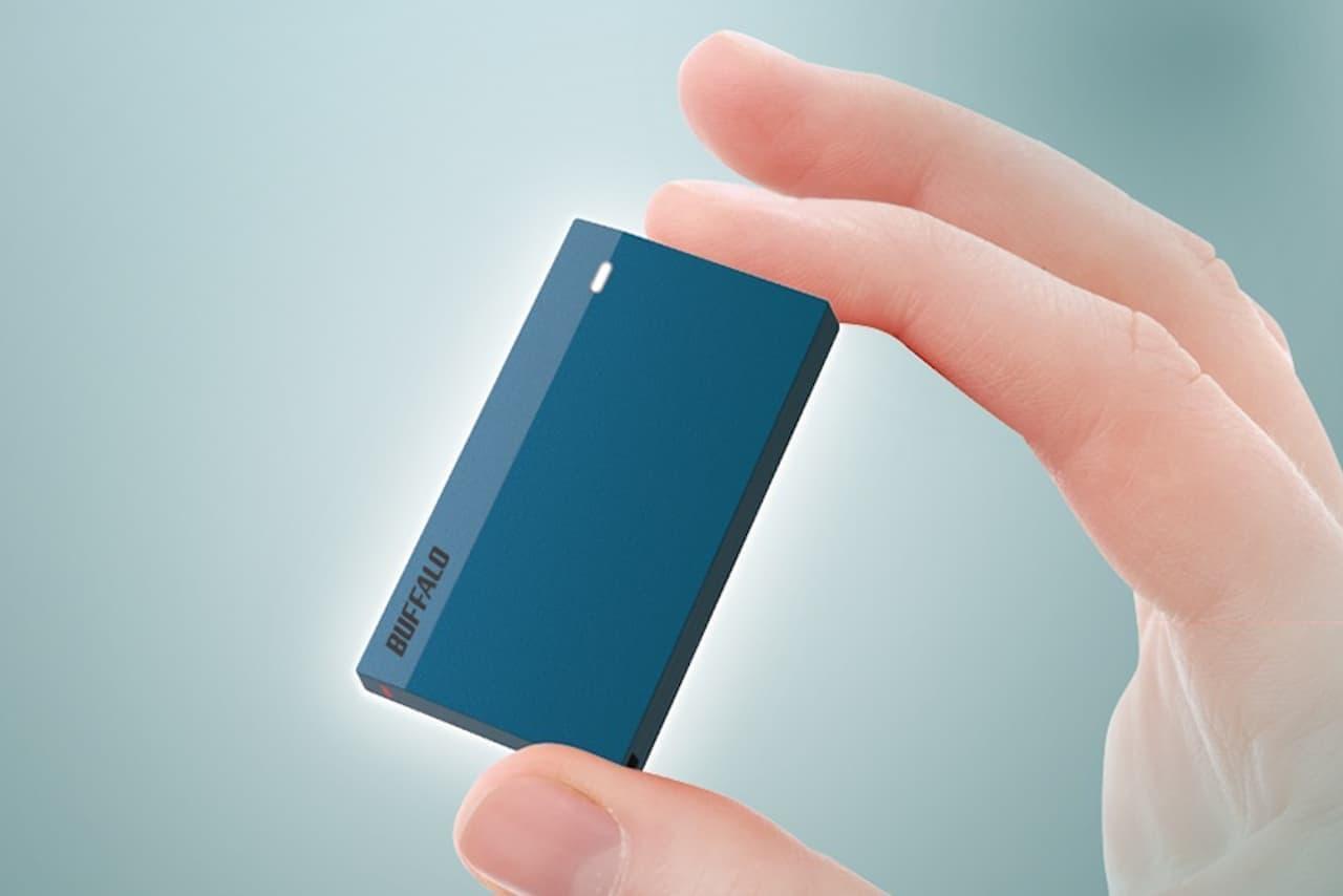 バッファローの名刺より小さなSSD「SSD-PSMU3」