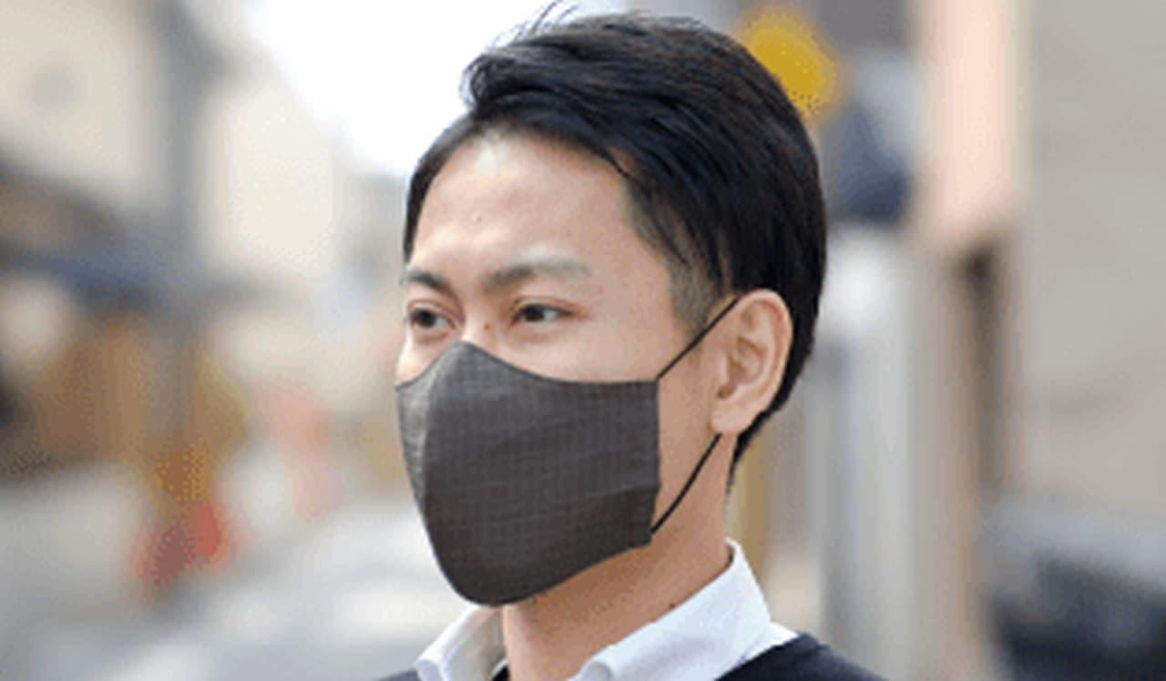 乾燥器で乾かせるマスク「柿渋染めマスク」