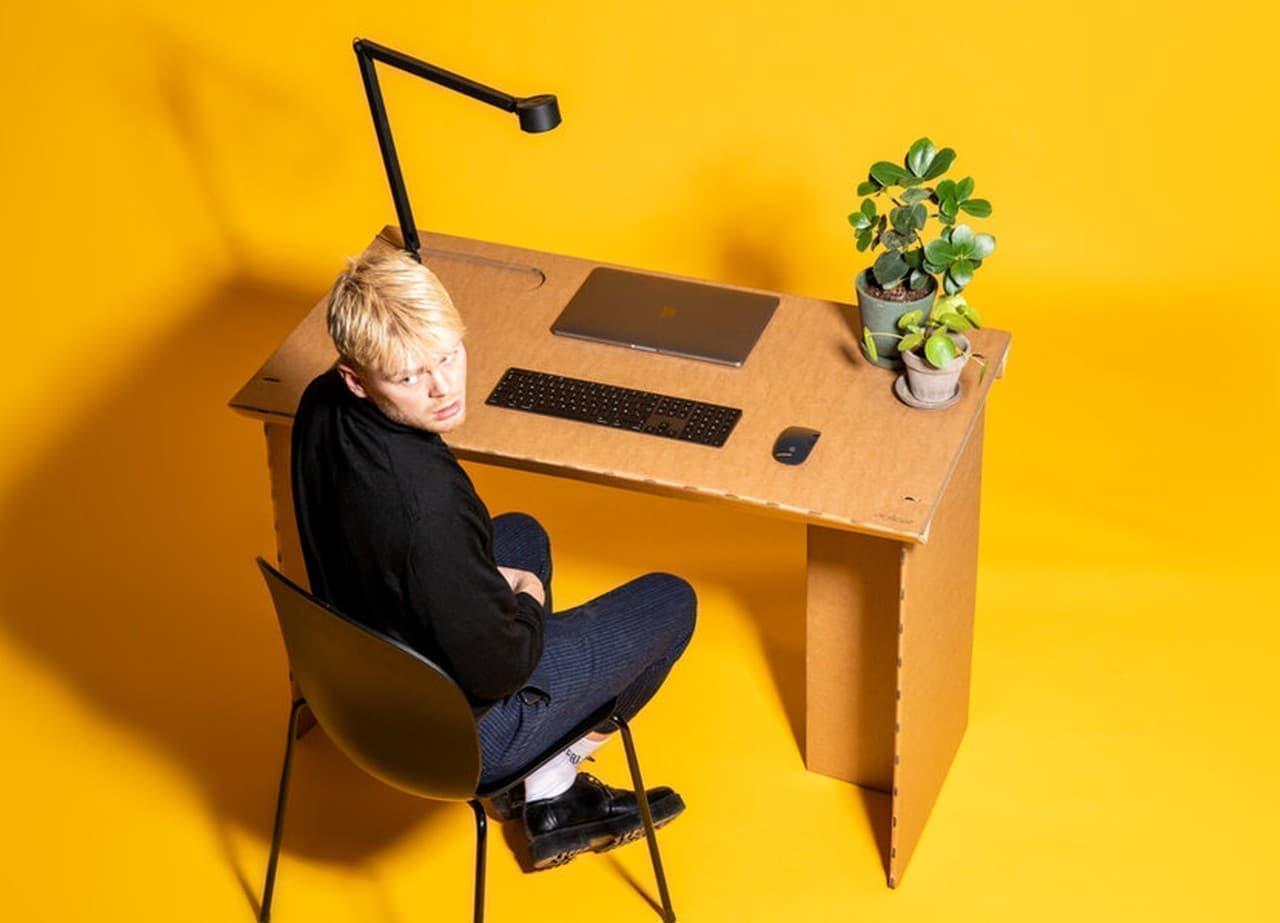 【テレワーク】ちょっと素敵なダンボール製デスク「StayTheFHome Desk」
