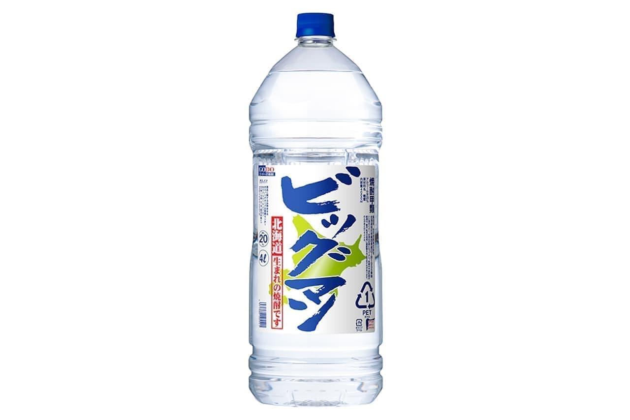 オエノン 焼酎「ビッグマン」4Lペットボトルで除菌液を生産