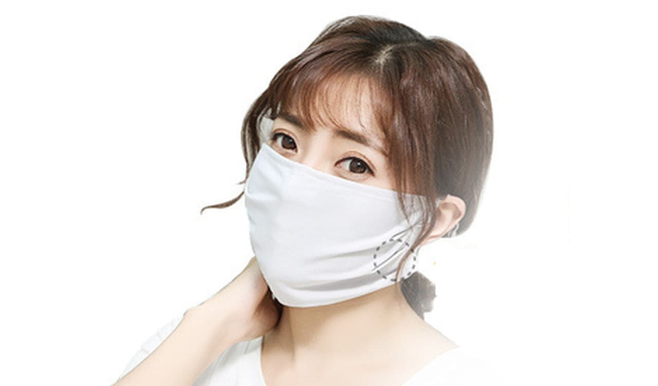 夏になってもマスクはいるよね ― ひんやり感覚のアイスシルク使用「マスクwith」
