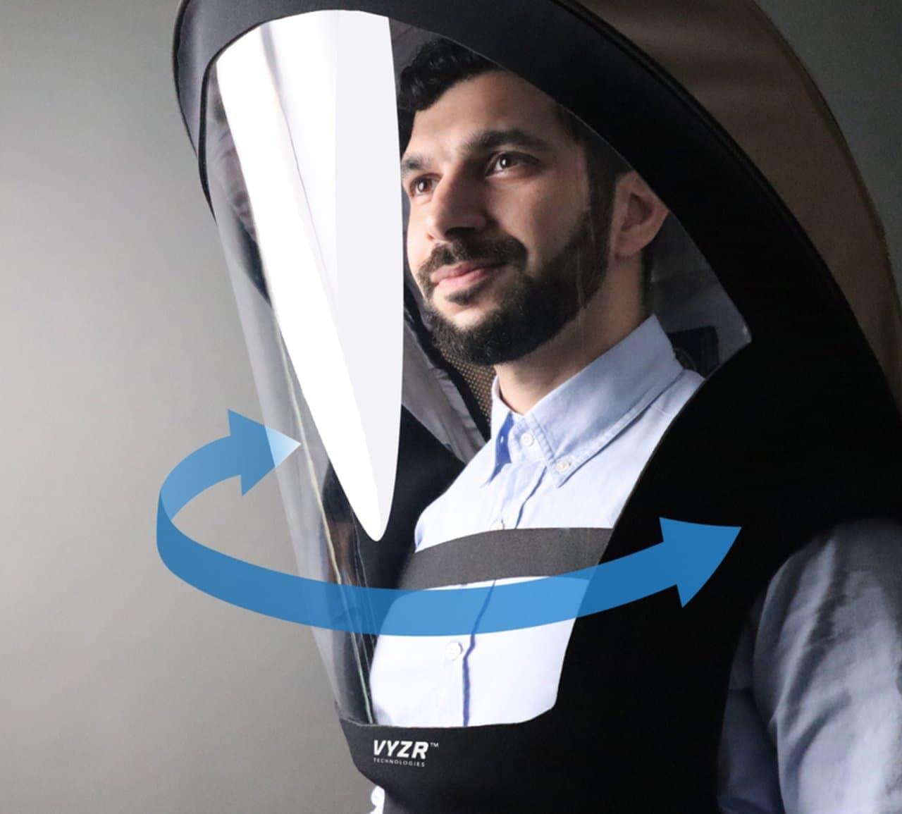 上半身用マスク「BIOVYZR 1.0」 ― コロナ禍でも出社しなければいけない人に