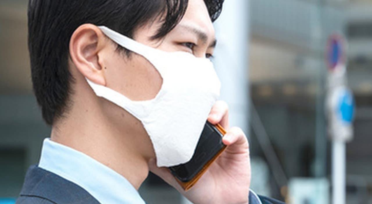 ホールガーメント(無縫製)で編まれた国産マスク