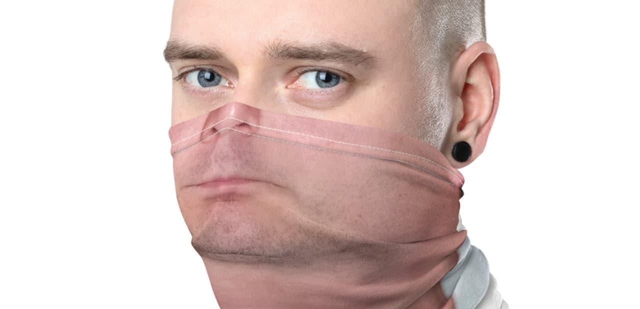 自分の顔をマスクで隠したくない! ― 顔がプリントされた「Ya-Face Mask」