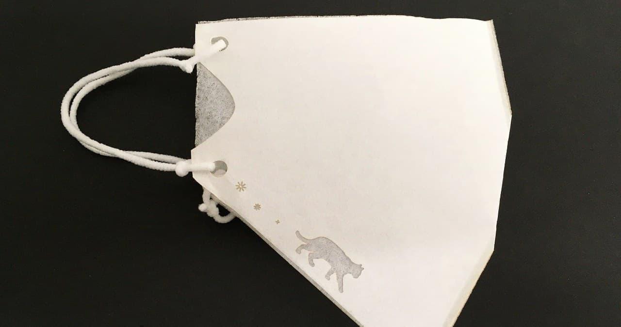 「猫マスク」がオーシャンティーバッグから ― ティーバッグ用不織布を活用