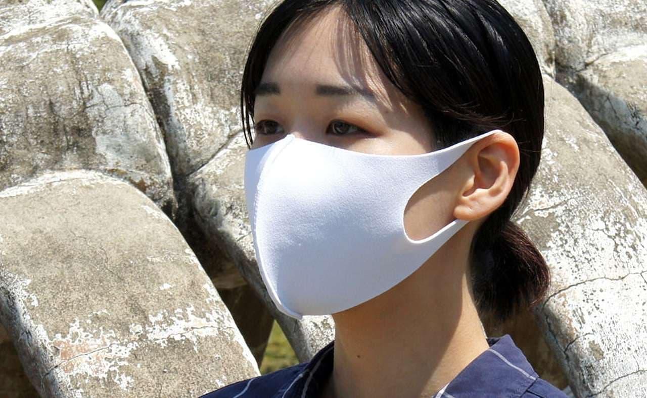 洗濯機で洗えてすぐ乾きシワになりにくい「イーナマスク」 - ランニングシューズ用のメッシュ技術を応用