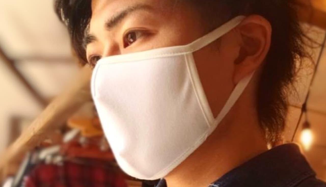 スポーツウェアにも使用されるポリエステルを100%使用した「Ms Three Mask」