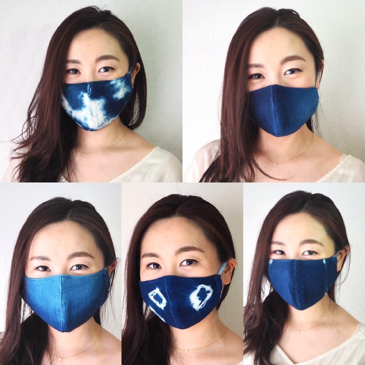 藍染めガーゼ 快適サラサラマスク