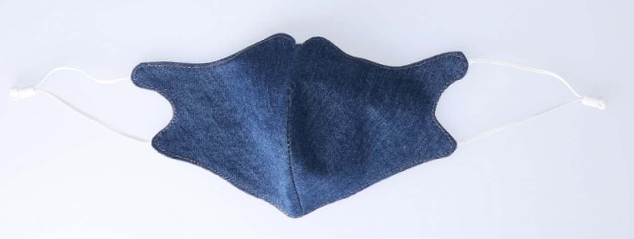 「和紙デニム」で梅雨の蒸し暑さを解消 ― 接触冷感機能付き「デニムマスク」