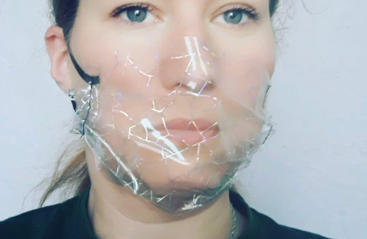 透明マスクがDOMDRICHStudioから - 顔を隠したくない人に